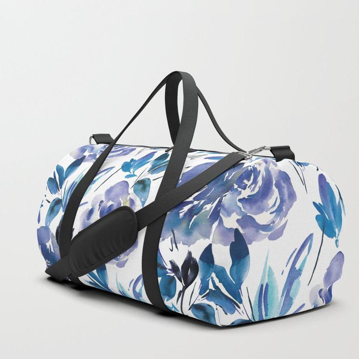 9b9217cb4424 Royal Blue Garden 01 Duffle Bag by creativeindex