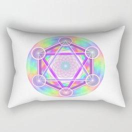 Rainbow Net Metatron Rectangular Pillow