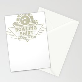 Lucky Bowling Shirt Do Not Wash Bowler Stationery Cards