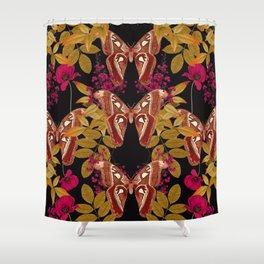 Moth Jungle Shower Curtain