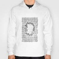 letters Hoodies featuring Letters  by Enver Yigit