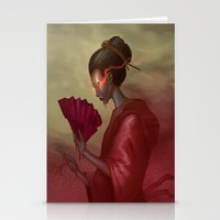 blood Stationery Cards featuring Blood by Yoncho Yonchev