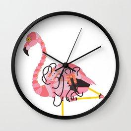 Robot Flamingo Wall Clock