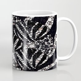 Black&Silver Abstract Bling Pattern  Coffee Mug
