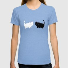 cats Womens Fitted Tee Tri-Blue SMALL