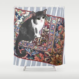 Patty on the Knoll Doodle Shower Curtain