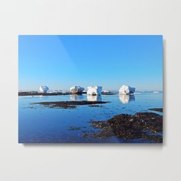 Winter on the Saint-Lawrence Metal Print