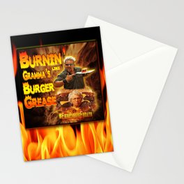 Burn Like Gramma's Burger Grease Stationery Cards
