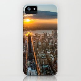 MANHATTAN - sunset iPhone Case