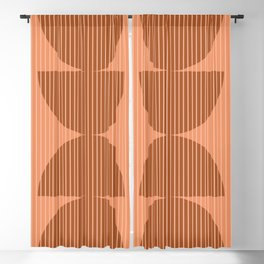 Abstraction Shapes 17 in Terracotta Shades (Moon Phase Abstract)  Blackout Curtain