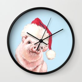 Christmas Baby Pig Wall Clock