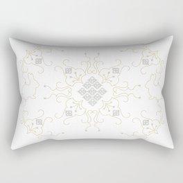 Embroidered Gold Bunny Rectangular Pillow