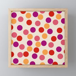 Edemama - Abstract Colorful Retro Dots Vintage Vibe Dotted Pattern Framed Mini Art Print