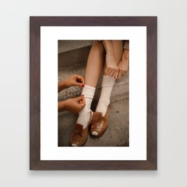 Helping Hands Framed Art Print