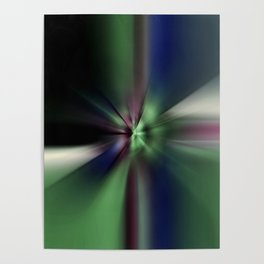 Inverted Reflecting Green Light Abstract Poster