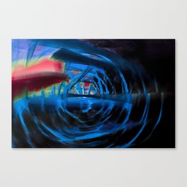 Energetic dark blue and red spiral Canvas Print