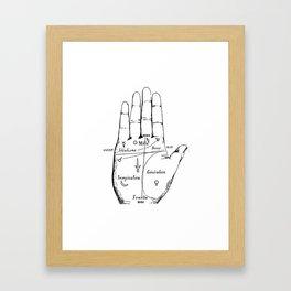 Palm Reading Framed Art Print