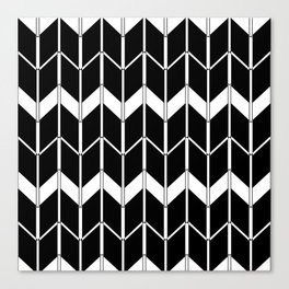 The Scandinavian pattern , black and white 2 Canvas Print