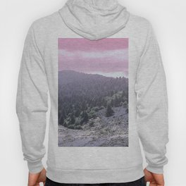 Pink Sunset on Mountains Hoody