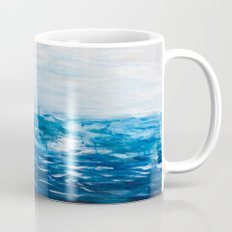 Paint 10 abstract water ocean seascape modern painting dorm room decor affordable stretched canvas Mug