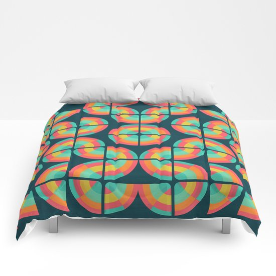 An abstract topography Comforters