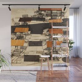 Tables and Chairs Wall Mural