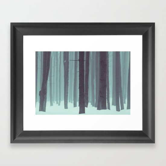 Frozen kingdom Framed Art Print
