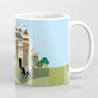 castle Mugs featuring castle  by Design4u Studio