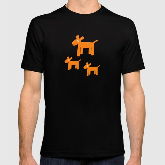 Dogs-Red T-shirt