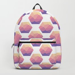 Low poly hexagons Backpack