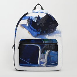 Snowboarder Skidding Winter Sports Gift Backpack