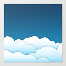 Paper Clouds Canvas Print