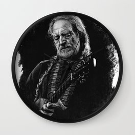 Willie Nelson drawing  Wall Clock