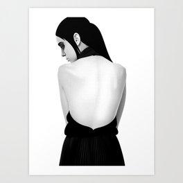 black & white Art Print
