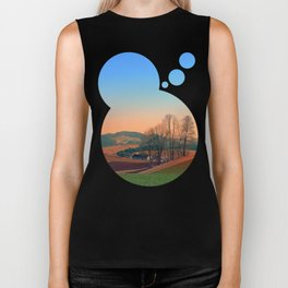 Trees, panorama and sunset   landscape photography Biker Tank