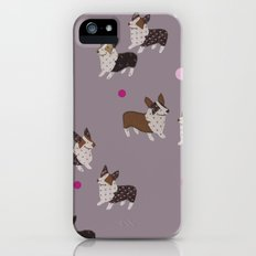 pink dot corgis Slim Case iPhone (5, 5s)