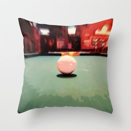 Cue Ball Abstract  Throw Pillow