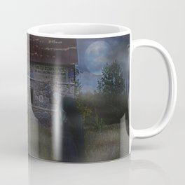 Abandoned Old House and Girl in the Mist, urbex Coffee Mug