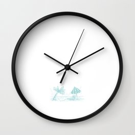 Followed My Heart and it Led Me to the Beach T-Shirt Wall Clock