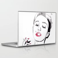 miley cyrus Laptop & iPad Skins featuring Miley Cyrus by ☿ cactei ☿