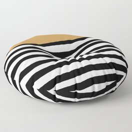 Stripea and gold Floor Pillow