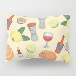 cocktail recipe pattern _ zombie Pillow Sham