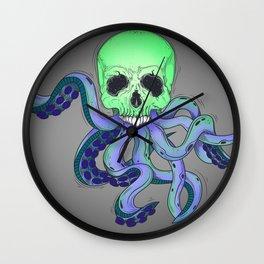 Skull Tentacles Wall Clock
