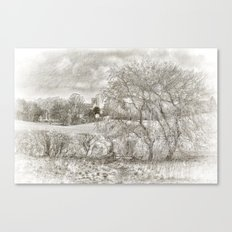 A Lovely View BW Canvas Print