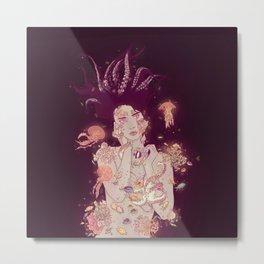 Abyss Lady Metal Print