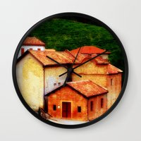 italian Wall Clocks featuring ✔️Italian Farmhouse by Tru Artwear