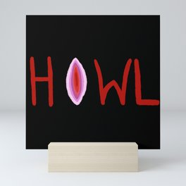 V Howler - black Mini Art Print
