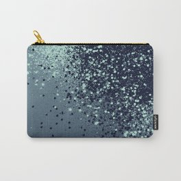 Sparkling Blue Summer Night Lady Glitter #1 #shiny #decor #art #society6 Carry-All Pouch