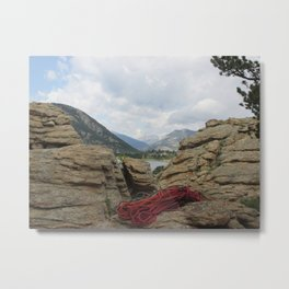 on belay? Metal Print