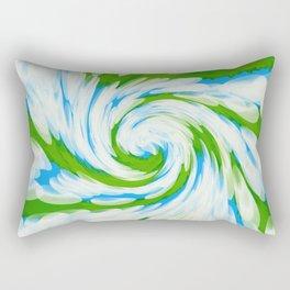 Groovy Green Blue Swirl Rectangular Pillow